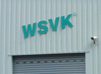 Aussenwerbung an Halle WSVK