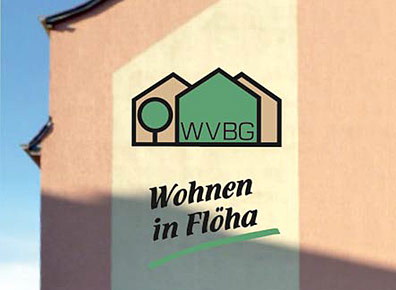 Hausfassade Werbung WVBG