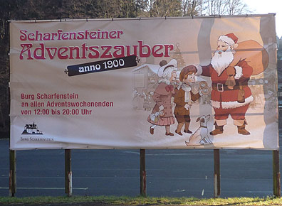 Banner Adventszauber Scharfenstein