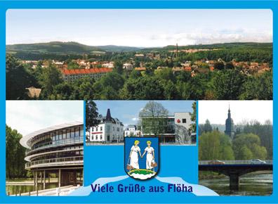 Ansichtskarte Flöha